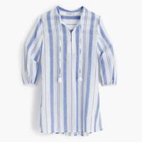 Cropped cotton tunic