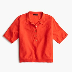 Summerweight cotton polo sweater