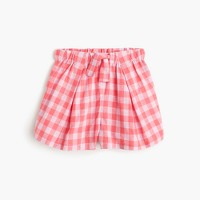 Girls' gingham pull-on short