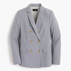 Double-breasted gingham blazer