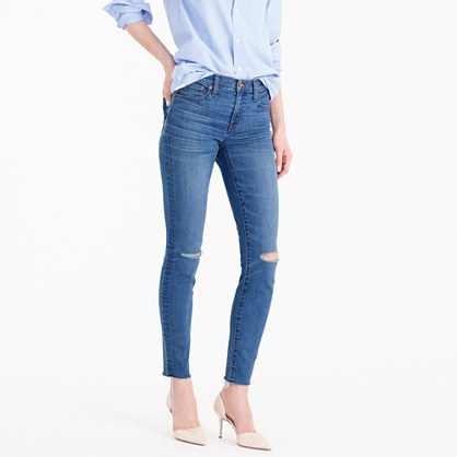 Toothpick jean in Skipper wash