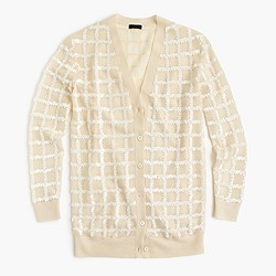 Collection sequined cardigan