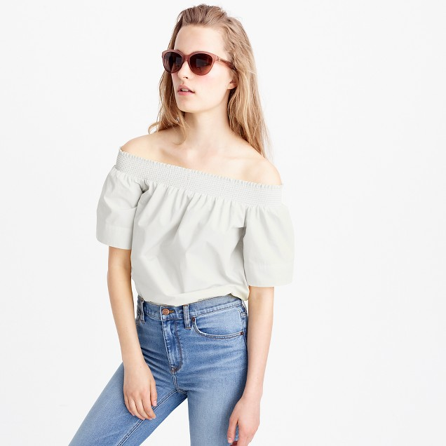 Tall cotton off-the-shoulder top