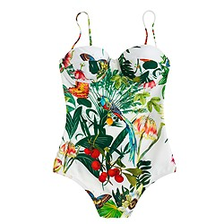 Underwire one-piece swimsuit in Ratti® Into the Wild print