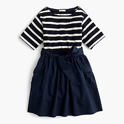 Girls' striped cargo combo dress