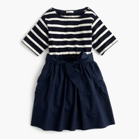 Girls' striped cargo combo dress