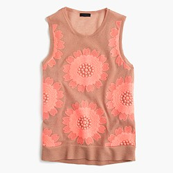Collection embroidered floral tank