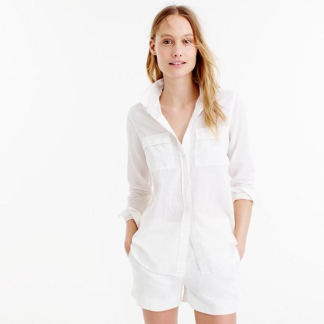 Boy shirt in cotton-linen