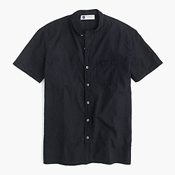 Industry of All Nations™ short-sleeve band-collar madras shirt
