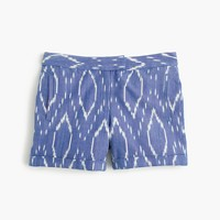 Cotton short in sunfaded ikat