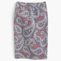 No. 2 pencil skirt in paisley