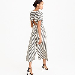 Collection striped wide-leg jumpsuit