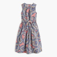 Girls' button-back sundress in vivid paisley