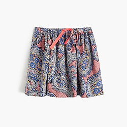 Girls' pull-on skirt in paisley