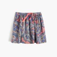 Girls' pull-on skirt in paisley