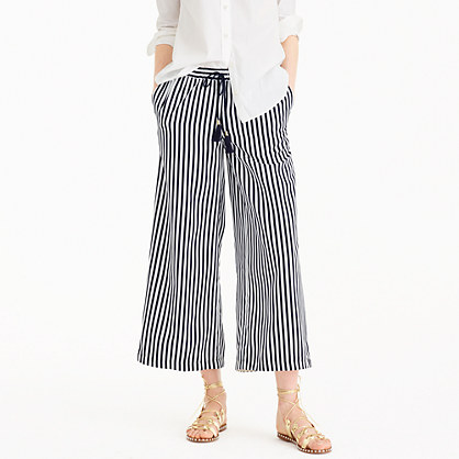 Striped drawstring pant