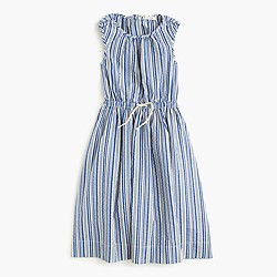 Girls' striped button-back sundress