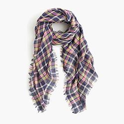 Vintage plaid scarf