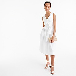 Wrap dress in cotton poplin