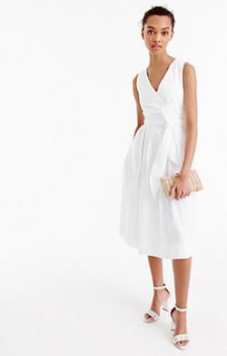 Wrap dress in cotton poplin
