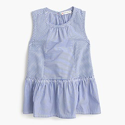 Girls' paneled sleeveless top in stripe