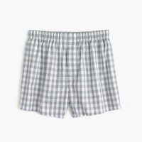 Grey gingham boxers