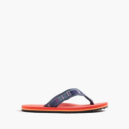 Kids' madras flip-flops