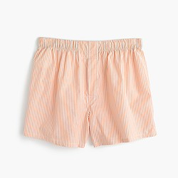 Tangerine-striped boxers
