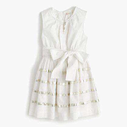 Girls' embroidered summer dress