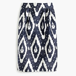 Collection midi skirt in ikat