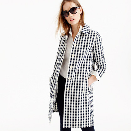 Trench coat in gingham
