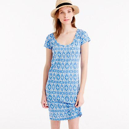Sunwashed cotton T-shirt dress