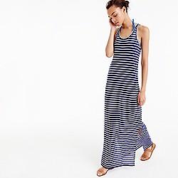 Sunwashed cotton maxi dress in stripe
