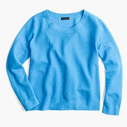 Collection popover sweater in gauzy cotton