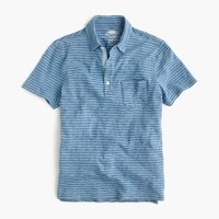 Wallace & Barnes polo shirt in indigo stripe