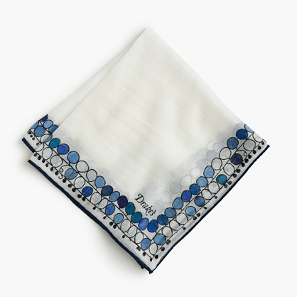 Drake's® cotton-silk pocket square in balloon print