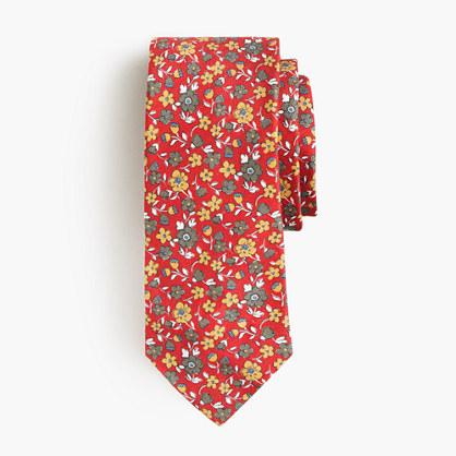 Drake's® silk-linen tie in floral print