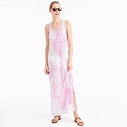 Sunwashed cotton maxi dress in pink orchid