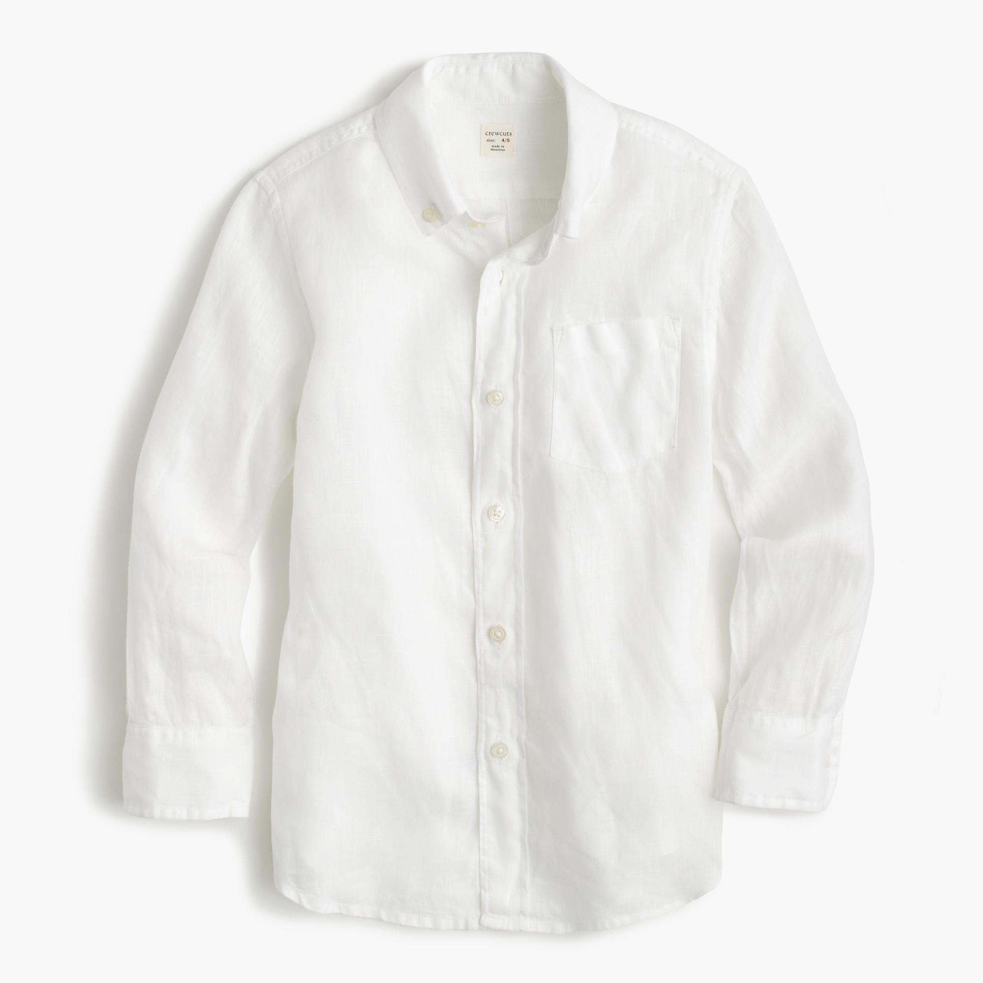Kids 39 irish linen shirt in white j crew for Irish linen dress shirts