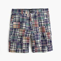 "9"" Stanton short in plaid patchwork"