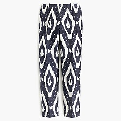 Collection cigarette pant in heavy shantung ikat