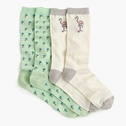 J.Crew X Pierre Le-Tan™ for Design Miami/™ socks two-pack