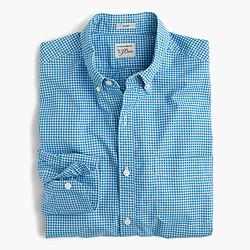 Slim Secret Wash shirt in blue gingham