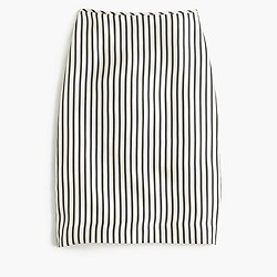 Collection silk striped slip skirt