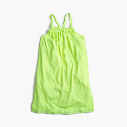 Girls' cross-back summer dress