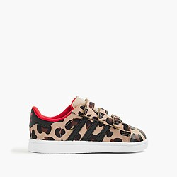 Girls' Adidas® Superstar sneakers in cheetah