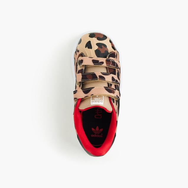 Girls' Adidas® Superstar sneakers in cheetah