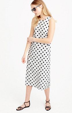 Midi dress in polka dot
