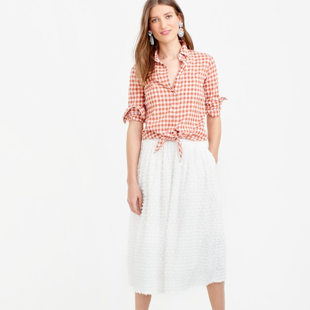 Midi skirt in cotton clip-dot