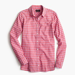 Boy shirt in two-tone crinkle gingham